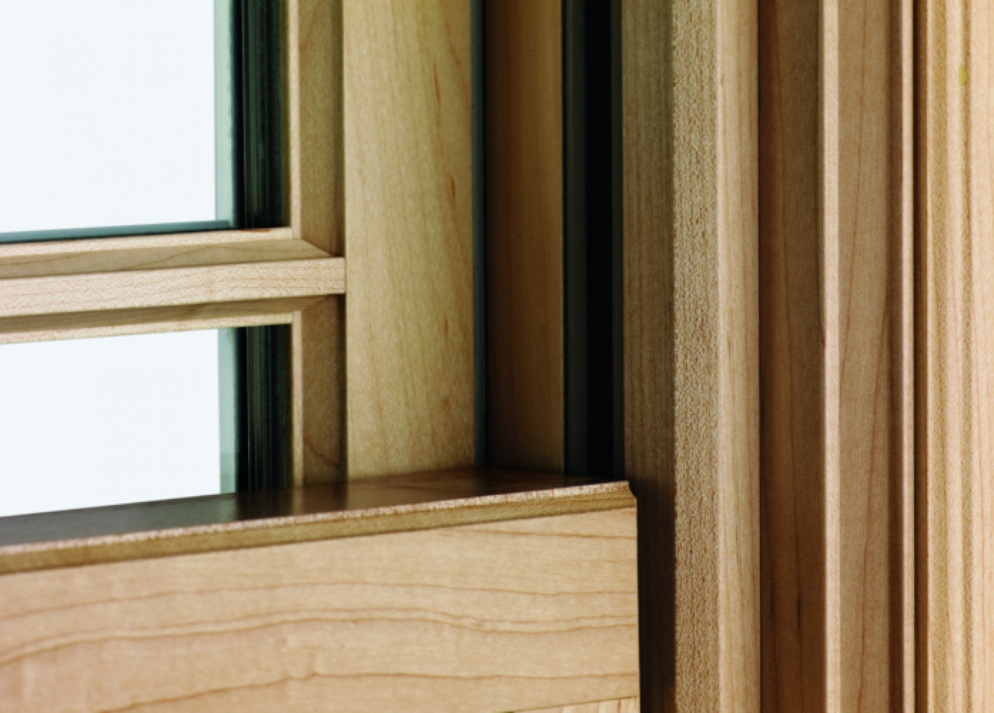 400 Series Woodwright Double-Hung Insert Window Maple Wood Interior